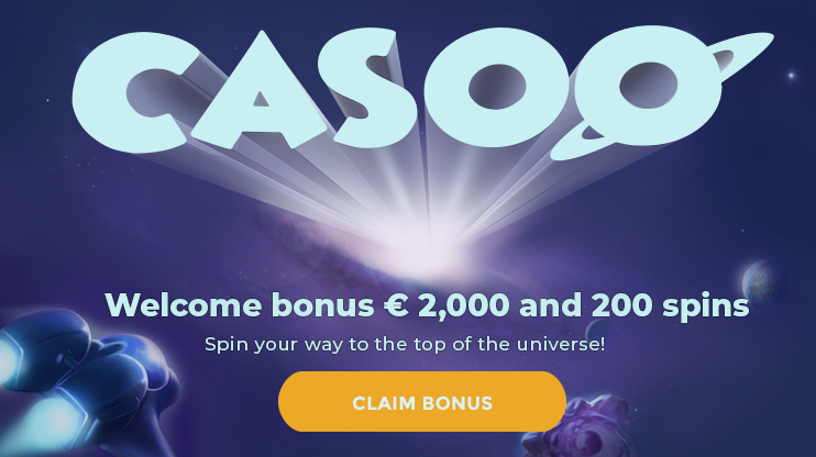 Get a €2000 Welcome Bonus Package + 200 Free Spins at Casoo Casino